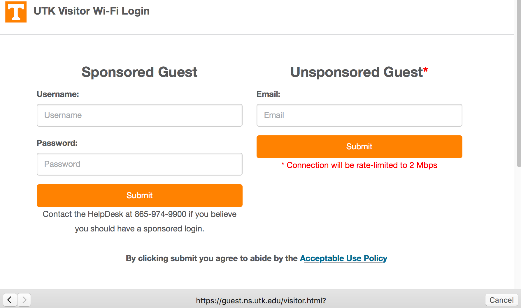 How Do I Access The Ut Network As A Guest Or Visitor
