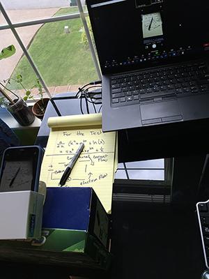 Make-shift tripod document camera example