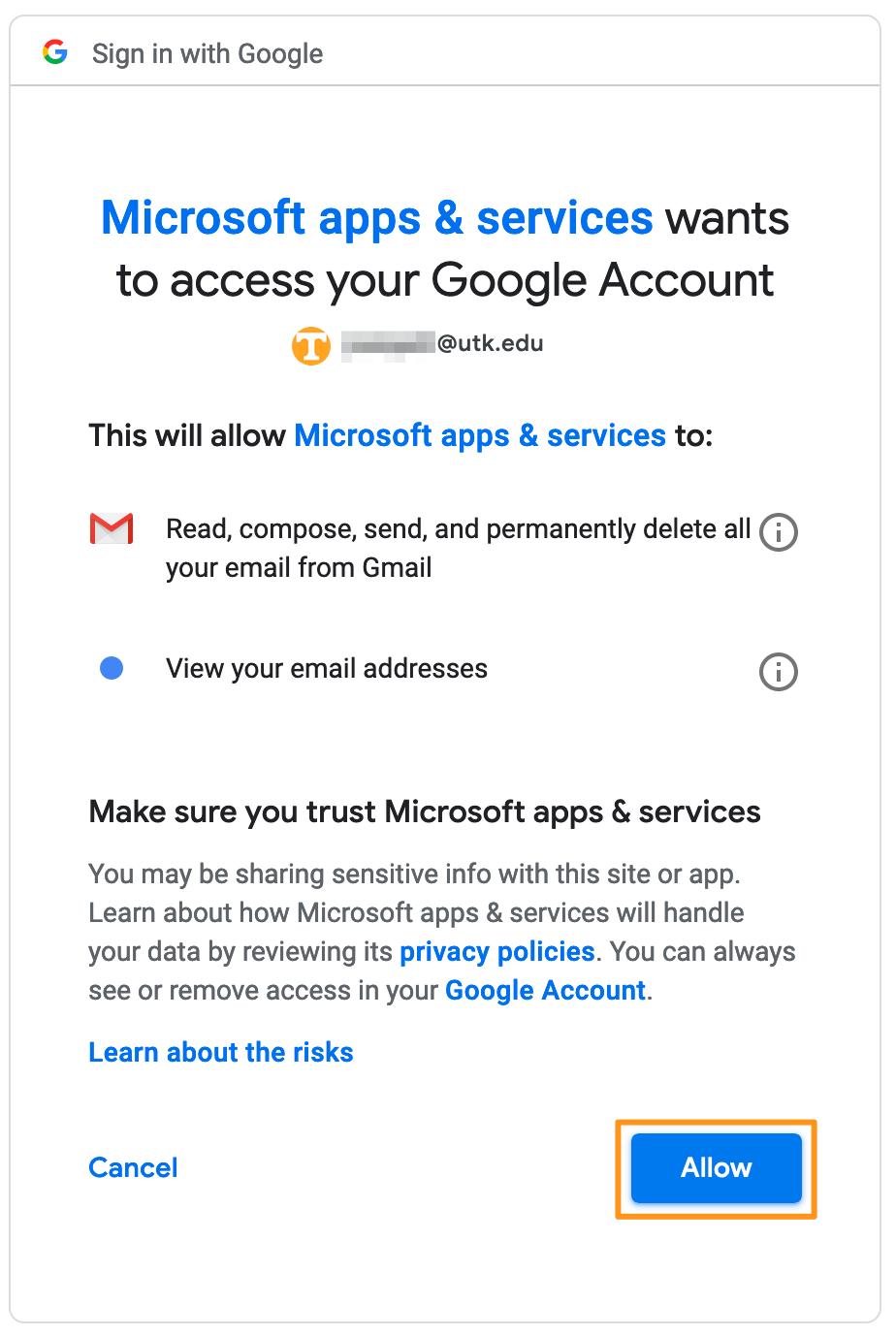 UTK Gmail Configuration Instructions