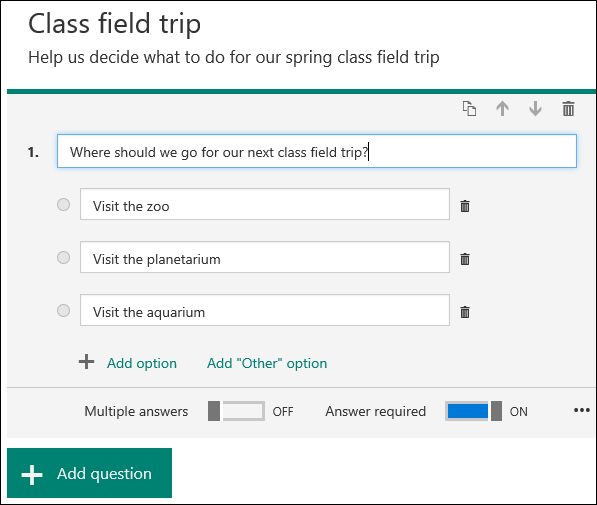 create a survey form with microsoft forms