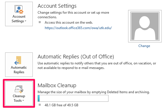 How do I find large email messages and attachments in